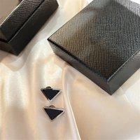 Classic Short Studs Charm Letter Triangle Earrings All Match Elegant Stud Girls Street Shooting Earring
