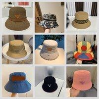 2021 дизайнеры летние моды ведро шляпа тонкие дыхание мужчины женщин пляж ультрафиолетовые защиты плоский верхний солнцезащитный крем роскошь рыбацкие шляпы 10 стилей хорошее