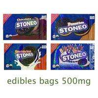 2021 Boş Stoneo Çerez Ambalaj Torbaları 500 mg Paket Açılır Yenilebilir Holografik Çanta Bisküvi Yenekler Mylar Koku Kanıtı