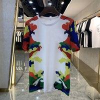 2021 mens summer t shirt fashion camouflage print design high quality silk slip breathable luxury men's t-shirts