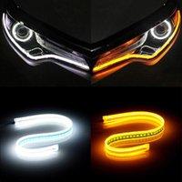 Lumières d'urgence Automobile LED Day-temps Light Ultra-Thin Guide Numérisation Turn-Color Turn Swew Streamer éclairage décoratif