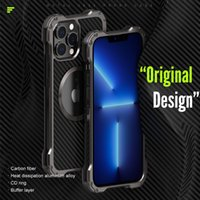 Metal Aluminum Alloy Phone Cases For Iphone 13 Pro Max 12 Mini 11 Carbon Fiber PC Back Anti-Fall Cover Magsafe can be use With Camera Protectecters