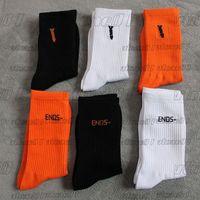 2021 Erkek Çorap Chaussettes Moda Erkekler Kadınlar Çorap İç Mektubu Baskılı Çorap Kaykay Spor Çorap Çorap