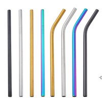 Reusable 8MM Stainless Steel Straw Drinking Straw Food Grade SS304 Colorful Straw Wholesale Bar Drinking Tools DHA8040