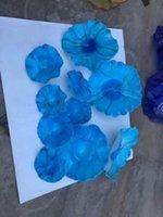 Пользовательские декоративные винтажные арт рта настенные светильники ручной взорванные стеклянные пластины для декора KTV