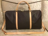 Держите 55 45 50 Duffel Bag Men Luxurys Дизайнеры Путешествия Сумки M41418 Кожаные Упаковки Спортивные Камеры