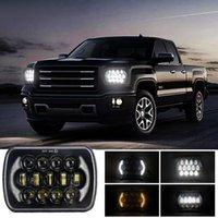 İnç 5x7 7x6 Wrangler Off-Road Araç Için Modifiye LED Kare Araba Işık 300 W Kamyon Far Çalışma Farları