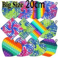 Regali del partito Relief Big Size 20 centimetri spinta Bubble Fidget Giocattoli per adulti stress antistress morbida Squishy Finger Board