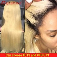 Blonde 13x6 Lace Front Human Hair Wigs For Black Women Brazilian Remy Ombre Colored #1B Wig 130 Density1