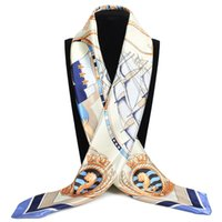 Mode Foulard Schal Schals Große Größe 90 * 90 cm Quadratische Haare / Kopf Scarv Satin Seidenschal