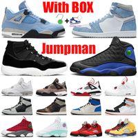 Neue Jumpman Herren Basketballschuhe 1s University Blue 11s Concord 12s Hyper Royal 13s Fire Red 4s 5s Damen Herren Trainer Sports Sneakers