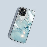 Marble Fashionn Design Tempering Glass Phone Cases For iPhone 12 Pro Max 13 11pro Xs X Xr 8 7 6s Samsung Galaxy Note20 Ultra S21 Plus S20 S9 Knockproof Crashproof Cover