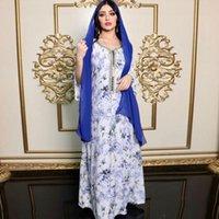 Ethnic Clothing 2022 Women Maxi Dresses Islamic Dubai Abaya Kaftan Turkish Muslim Party Evening Belt Dress Long Sleeve Plus Size