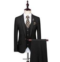 Conversement des hommes Blazers Solovedress Black Costume 2 pièces Pincedo Tuxedo Notched revers Slim Groom Minced Bureau de bureau (blazer + pantalon)