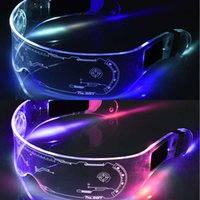 2021 fashion sunglasses Colorful EL Wire Neon Luminous LED Light Up Rave Costume Party Decor SunGlasses Accessories