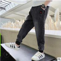 Children's Slim Fashion Jeans New 2020 Autumn and Spring Kids Leisure Trousers Boys Pants Denim Black Color Size4-14 Jeans ly139