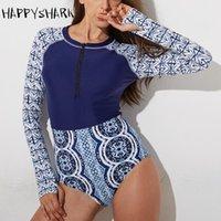 Abiti di un pezzo Appyshark Sport Surf Suit Professionale Manica lunga One Piece Costumi da bagno Donna Quick Dry Baleking SuitContrast Colore