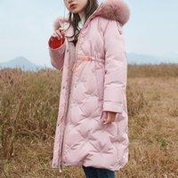 Down Coat 2021 Winter Warm Children Jackets For Girls Fashion Fur Hooded Waterproof Outwear Kids Cotton Lined Parkas