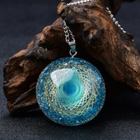 Increíble Blue Orgone Eye Energy Generator Colgante Collar Crystal Chakra Regalo