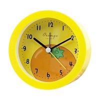 Otros relojes Accesorios Fruta impresa con luz de noche Estudiantes Escritorio de cabecera Durable Dormitorio Ronda Niños Niños Reloj despertador Sala de estar