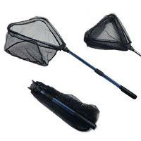 Booms Pesca N04 Pesca Landing Net com alça telescópica, compacto dobrável nylon malha de nylon 38cm-56cm Equipamento de pesca 1551 Z2
