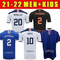 2022 Glasgow Home Dritter Auswärts Champions 55 Fussball Trikots Defoe Hagi Morelos Tavernier 20/21 Rangers Football Hemden Erwachsene + Kinder Kit