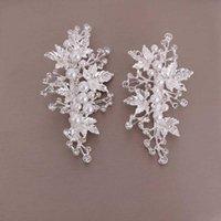 Clip per capelli Barrettes 1 Pair Squisito imitazione perla foglie di perle clip per la sposa di lusso diamante diadias coreano accessori donne elente lb