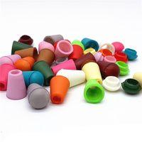 200PCs färgglada sladdar slutar klockstopp med locklås plastväxelklämma för paracord Klädpåse Sportkläder Sko 851 V2