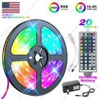 16.4 ft Flexible SMD 5050 RGB LED Strip Light w  44 Key Remote Control US Fairy Lights