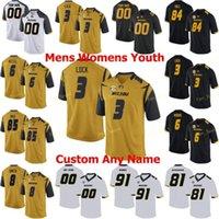 NCAA College Jerseys Missouri النمور 4 Jonathan Nance 5 Taylor Powell 5 Terry Beckner JR 56 Shane Ray 19 Jack Lowary مخصص كرة القدم مخيط
