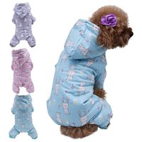 Dog Apparel Cute Printed Pet Clothes Small Jumpsuit Chihuahua Pajamas Hoodie Coat For Dogs Cats Super Soft Warm Puppy Costume