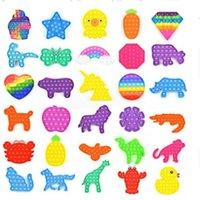 DHL Poussez Popit Popit Bubble Party Fidget Toy Stress Stress Sensory Jouets Sensoriat Soulagement de l'anxiété pour enfants Cadeaux d'anniversaire Ba21