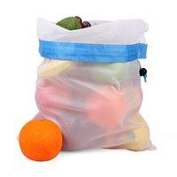 Malla de algodón reutilizable Compras de compras Produce Bolsos Eco-Friendly Fruit Fruit Bolsas de vegetales Totes de mano Bolsa de almacenamiento en casa OOB8501
