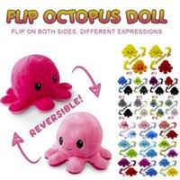 DHL Criativo Reversível Flip Octopus Boneca Cute Humor Dupla Faced Animais Recheados Almofada Para Crianças Presente Bebê Brinquedos