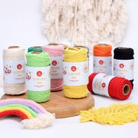 Yarn 3mm 100% Cotton Cord Colorful Rope Beige Twisted Craft Macrame String DIY Home Textile Wedding Decorative Supply Handmade