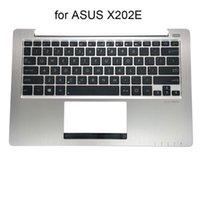 Laptop Reemplazo Teclados X202E Computadoras Notebook Teclado English para Asus VIVOBOOK X202 X201E S200E Silver PalmRest Cover 13GNFQ1AM071