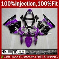 Cuerpo de molde de inyección para Kawasaki Ninja ZZR600 ZZR-600 600 CC 05-08 Carrocería 100% FIT 38HC.105 ZZR 600 2005 2006 2007 2008 600cc 05 06 07 08 Púrpura Glossy New OEM Kit de carenado