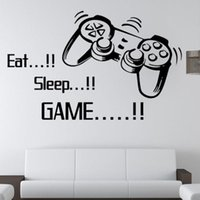 Eat Sleep Game Wall Decals Removable DIY Lettering Stickers For Boys Bedroom Living Room Kids Rooms Wallpaper Home Decor