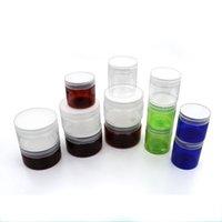 50ml 80ml 100ml 120 ml 150 ml Luxus Runde Klare Haustier Kosmetische Kunststoffcreme-Speicher-Behälter-Gläser und Flaschen für Lebensmittel