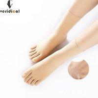 Veridical 5 Пары / Лот Нейлон Женщина Человек Пять Пальца Носки Тонкий Сжатие Шелковый Носки Носки Шелковые Твердые Моды Meias Feminino Sokken 210720