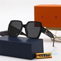 2021 Beliebte Frauen Mode Sonnenbrille Square Sommer Stil Full Frame Top Qualität UV-Schutz 0083s Sonnenbrille Mischfarbe Kommen Sie mit Kiste