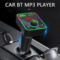 블루투스 FM 송신기 무선 무선 어댑터 핸즈프리 자동차 키트 3.1A USB 포트 유형 C 빠른 충전기