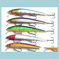 Baits & Lures Fishing Sports Outdoors Minnow Lures Baits Plastic Hard Popper 5Pcs Lot 130Mm 19G Mix 5 Colors Tackle Spoon 2-11 Drop De