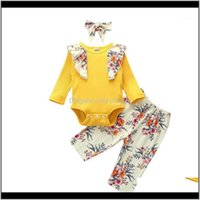 Sets Clothing Baby, Kids & Maternity3Pcs Born Girls Printed Romper Big Flower Pants + Cute Headband Outfits Baby Clothes Set71 Drop Delivery