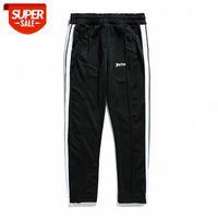 PA Trendy Marka Rahat Pantolon Palmiye Yüksek Sokak Çizgili Dikiş Gevşek Düz Spor # 572n