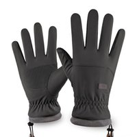 Men's and women's winter touch screen ski gloves outdoor waterproof, windproof warm riding all finger Plush mountaineering