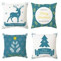 Cushion Decorative Pillow 45cm Merry Christmas Pillowcase Cushion Nordic Style 2021 Decor For Home Ornaments Xmas Noel Natal Ornament Year