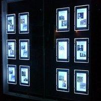 Éclairages de panneau (emballage / 5nits) A3 Diffusion de câble double face Systèmes de suspension rétro-accès, Galerie d'art Galerie LED