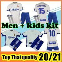 20/21 Real Zaragoza Soccer Jersey 2020 2021 человек и детский комплект Camiseta de Fútbol Zaragoza Home Unificate Kit