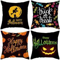24 colors decorative pillow covers for christmas Halloween pillows home gift sofa leaning fleece pillowcase Cushion Textiles DWB10430